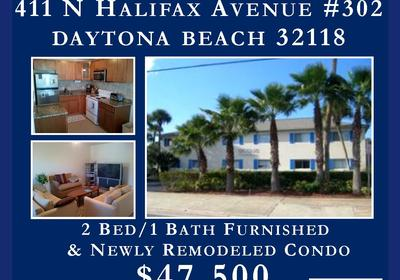 FOR SALE FURNISHED & REMODELED! 411 N Halifax Avenue Unit #302 DAYTONA BEACH